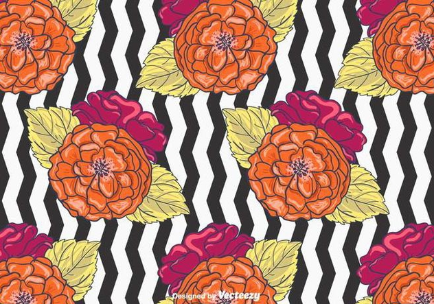 Floral Background Vector - Free vector #398311