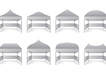 Set Of Gazebo Vectors - vector gratuit #398351