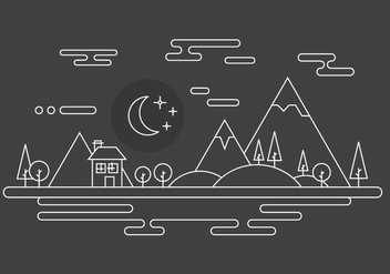 Free Landscape Vector Illustration - Free vector #398381