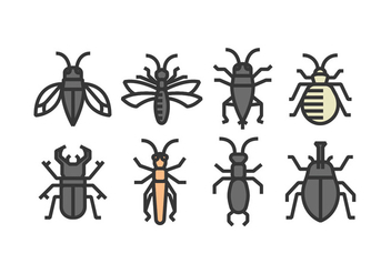 Insect Icon Vectors - бесплатный vector #398441