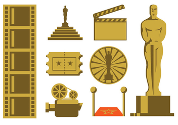 Cinema Icons Pack - vector gratuit #398451