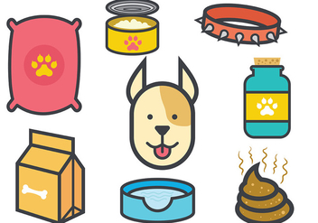 Free Dog Icons Vectors - vector gratuit #398581