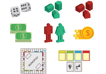 Set Of Monopoly Icons - Free vector #398631