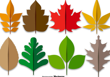 Maple Leaves Colorful Set - vector gratuit #398661