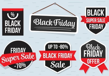 Free Black Friday Labels Vector - бесплатный vector #398701
