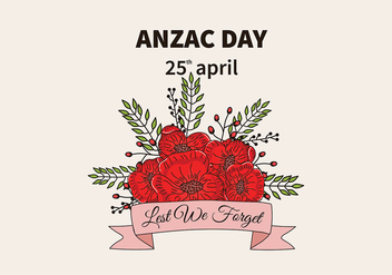 Anzac Day Background Vector - Free vector #398811