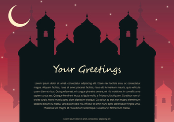 Arabian Night Greetings Template - Free vector #398821