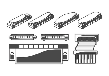 Harmonica Vector Pack - Free vector #398831