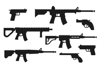 Guns Vector Pack - vector #398891 gratis
