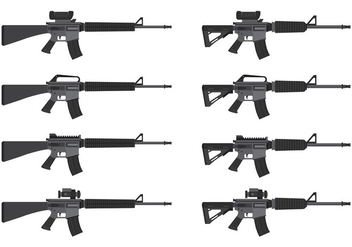 Vector Of AR15 - vector gratuit #398901