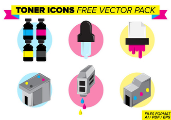 Toner Icons Free Vector Pack - Free vector #398951
