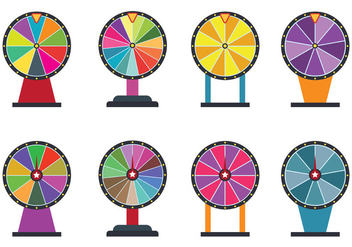 Set Of Spinning Wheel Vectors - vector gratuit #399001