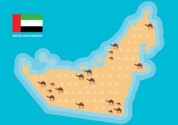 UAE Map Vector - Free vector #399031