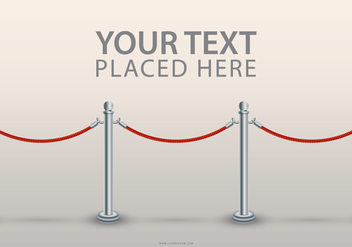 Velvet Rope Text Template - Kostenloses vector #399051