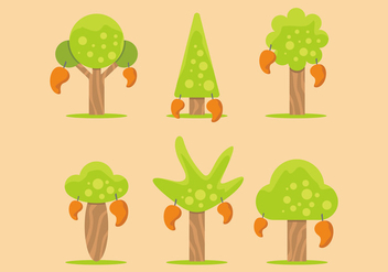 Mango Tree Vector Set - бесплатный vector #399101