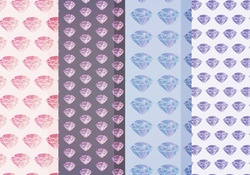 Vector Watercolor Diamond Patterns - vector gratuit #399291