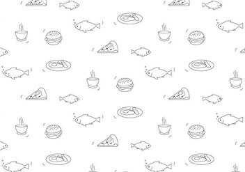 Food Vector Pattern - vector gratuit #399301
