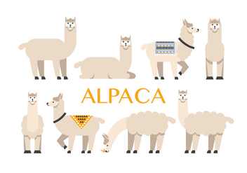 Alpaca vector icons - бесплатный vector #399311