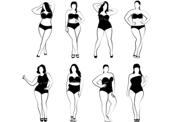 Plus Size Women Vectors - бесплатный vector #399341