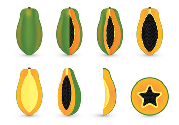 Papaya Vector Sets - vector gratuit #399351