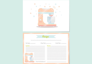 Recipe Cards Vector - vector gratuit #399371