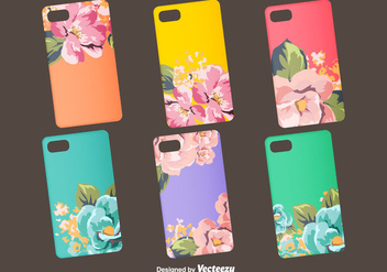 Floral Vector Phone Case Designs - Free vector #399471