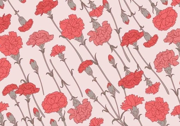 Carnation Pattern Classic Vector - Free vector #399481