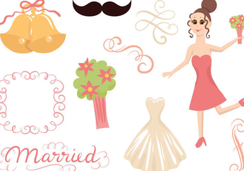 Free Wedding 2 Vectors - бесплатный vector #399531