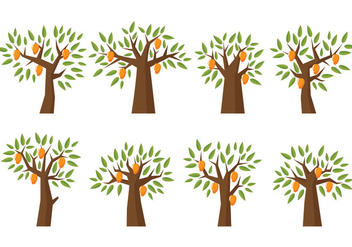 Mango Tree Vector - бесплатный vector #399741