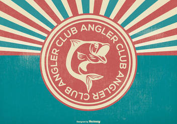 Retro Angler Club Illustration - Free vector #399881