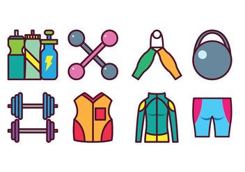 Free Sport Gear Icon Set - бесплатный vector #399911