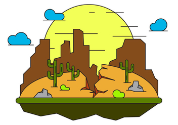 Grand Canyon Vector Illustration - Free vector #399931