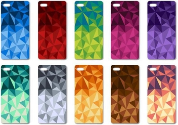 Free Geometric Colorfull Phone Case Design Vector - vector gratuit #399971