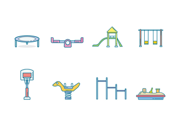 Free Kids Playground Vector - бесплатный vector #400211