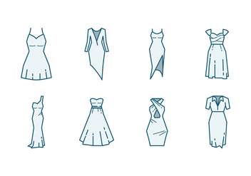 Bridesmaid Dress Icon - vector #400231 gratis