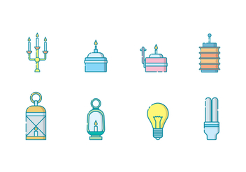 Free Lighting Objects Vector - бесплатный vector #400241