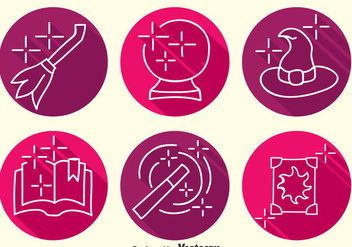 Hogwarts Element Line Icons Vector - vector gratuit #400281