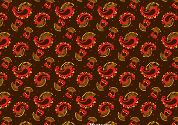 Red And Orange Cashmere Ornament Pattern - бесплатный vector #400291