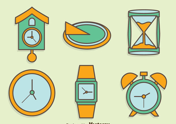 Hand Drawn Watch Collection Vector Set - Free vector #400331