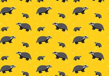 Honey Badger Seamless Pattern - Free vector #400341