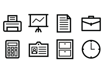 Free Office Icon Set - vector gratuit #400361
