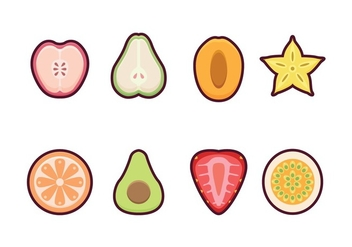 Free Fruit Icon Set - vector gratuit #400371
