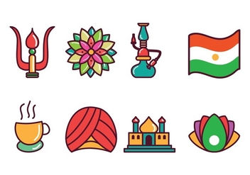 Free India Icons - vector gratuit #400381