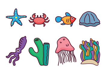 Free Coral Reef Vector Pack - Free vector #400401