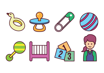 Free Baby Icon Set - vector #400421 gratis