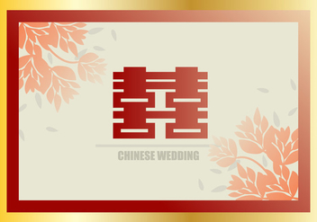 Chinese Mid Autumn Wedding Invitation Background - vector gratuit #400431