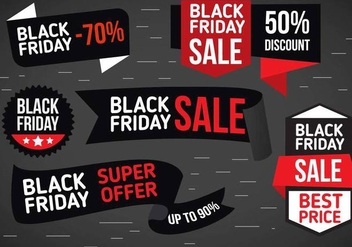 Free Vector Black Friday Labels - Kostenloses vector #400461