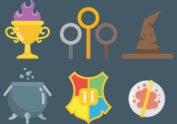 Free Hogwarts Icons Vector - Kostenloses vector #400501