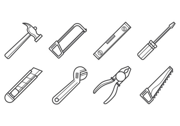 Free Carpenter Tools Icon Vector - vector gratuit #400561