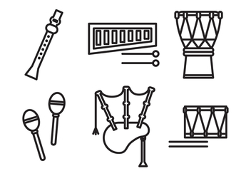 Set of Instruments - vector gratuit #400581